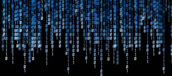 Codice binario blu