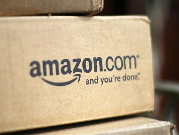 Una tipica scatola di Amazon