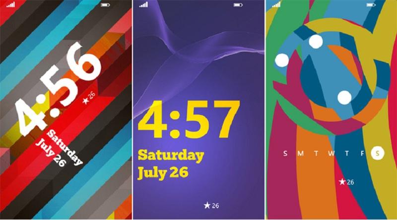 Le scelte per il blocco schermo su Windows Phone è su sei layout diversi