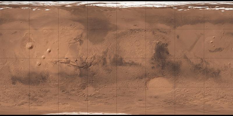 La mappa di Marte è stata realizzata dalla U.S. Geological Survey insieme all'Università dell'Arizona