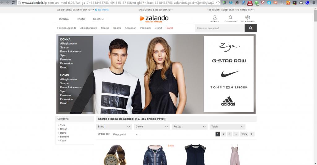 e-commerce di abbigliamento