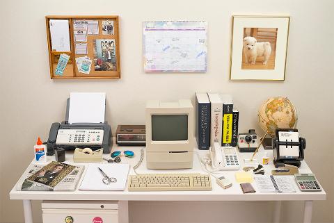 Una scrivania del 1980