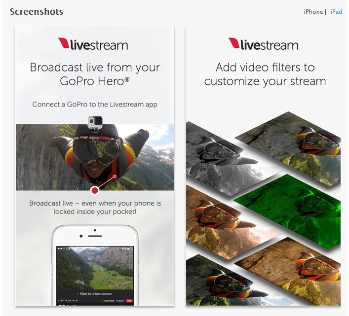 Livestream su AppStore