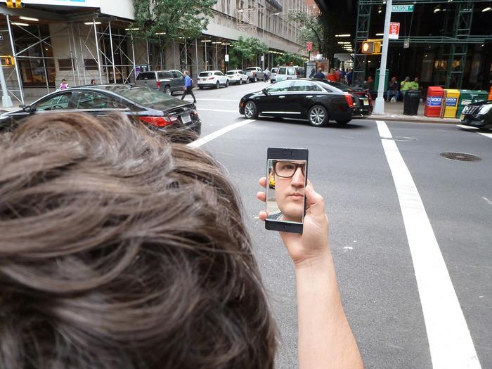 Specchio per selfie
