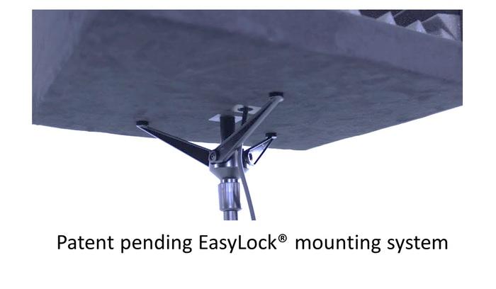 Facilissima da montare sull'asta del microfono grazie a EasyLock
