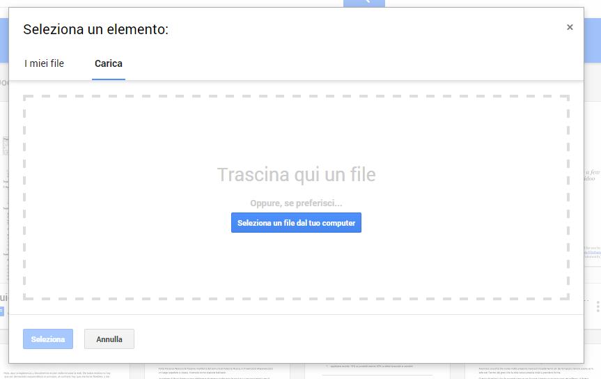 google doc caricare