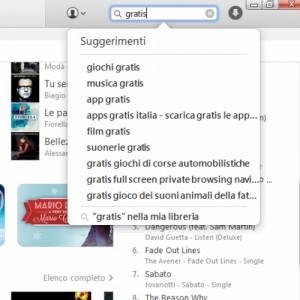 """cercate un prodotto gratuito tramite il tasto """"cerca"""" che trovate in alto a destra dell'applicazione."""