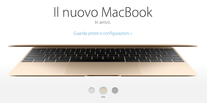Nuovo MacBook 12 pollici