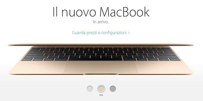 Nuovo macbook 12 pollici dorato caratteristiche scheda for Nuovo design per l inghilterra