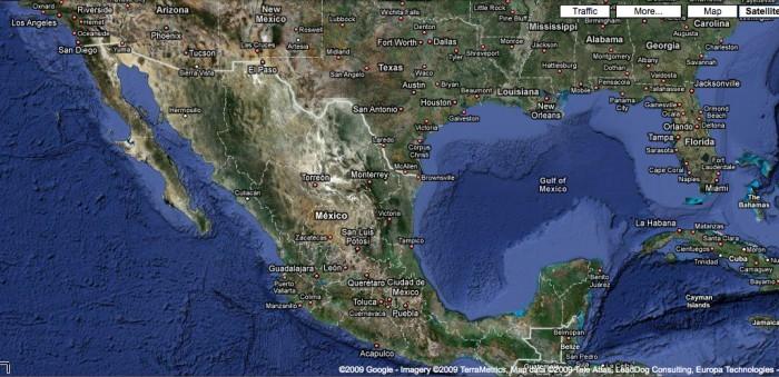 Google Maps vista dal satellite