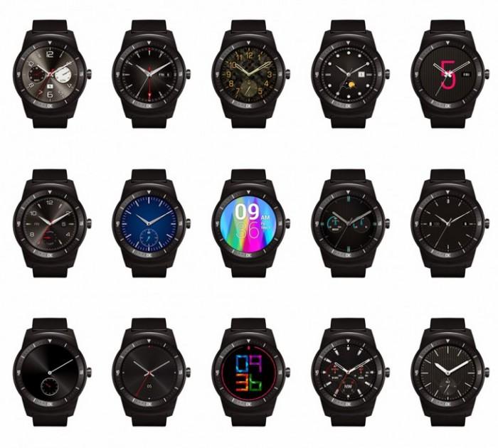 LG G Watch R diverse interfacce grafiche