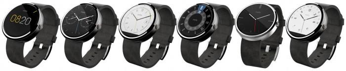 Motorola Moto 360 varie interfacce grafiche