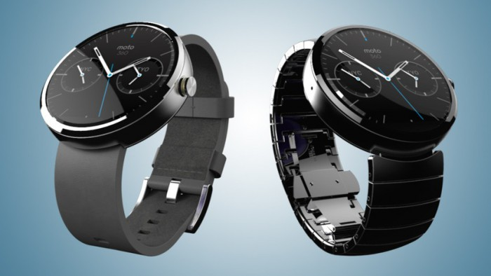 Motorola Moto 360 cinturino gomma e acciaio