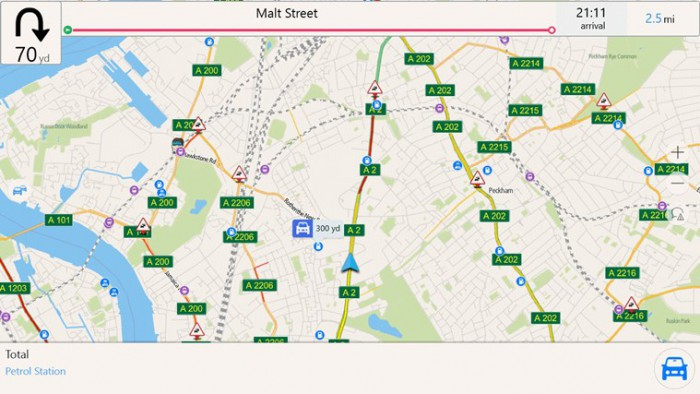 NavFree mappa autostrade