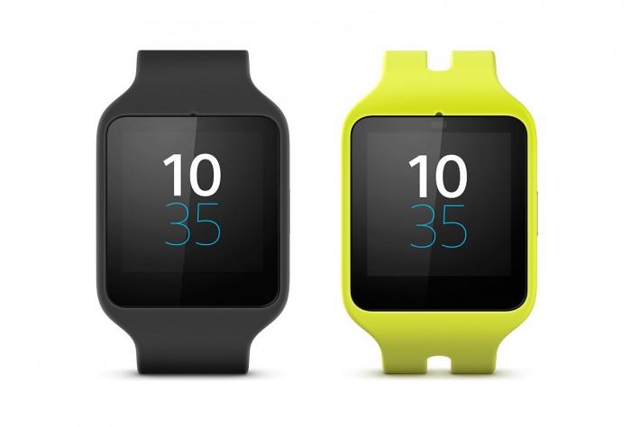 Sony Smartwatch 3 giallo e nero