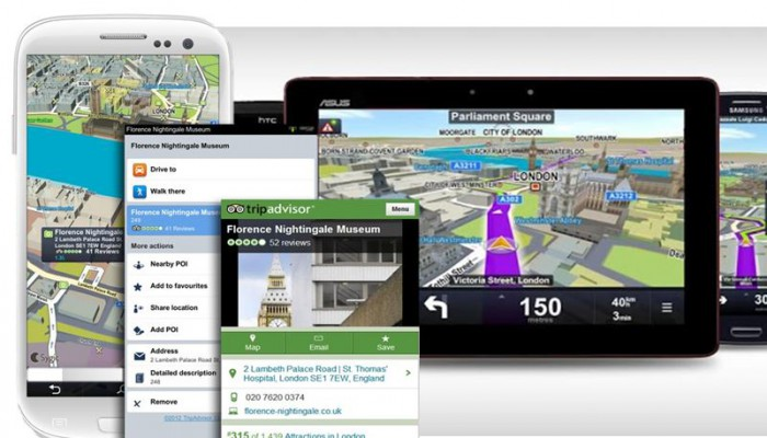 Sygic varie schermate navigatore
