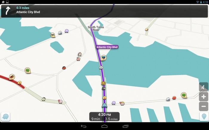 Waze mappa di navigazione