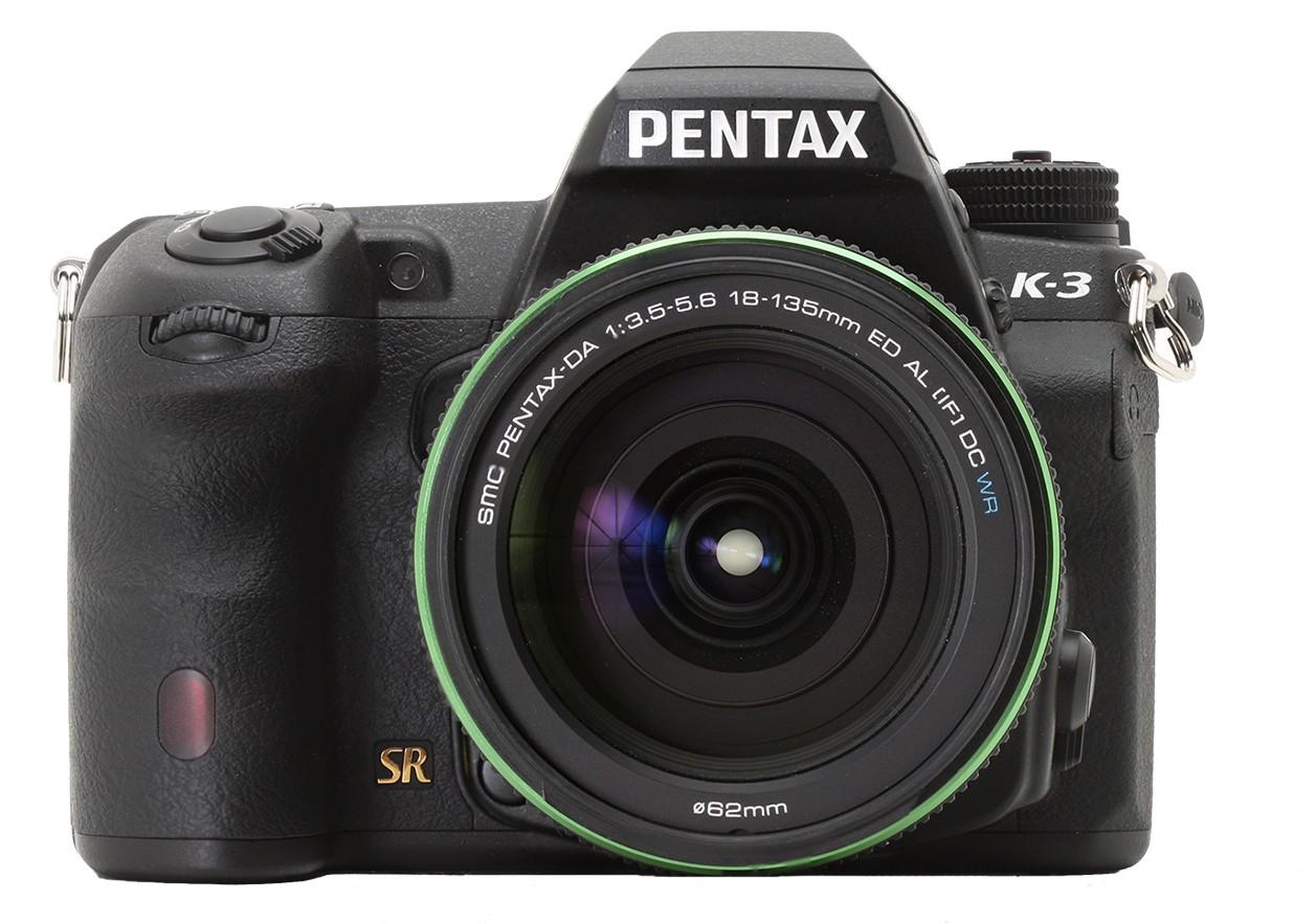 Pentax K3 vista frontale