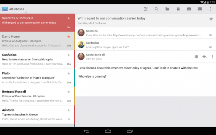 applicazioni Android mail