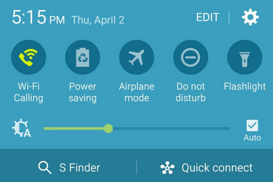 Galaxy S6 toggle
