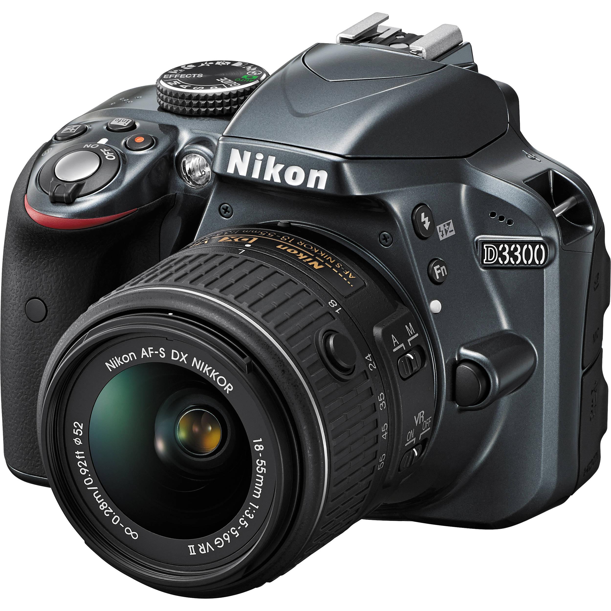 Nikon D3300 con obiettivo nikkor