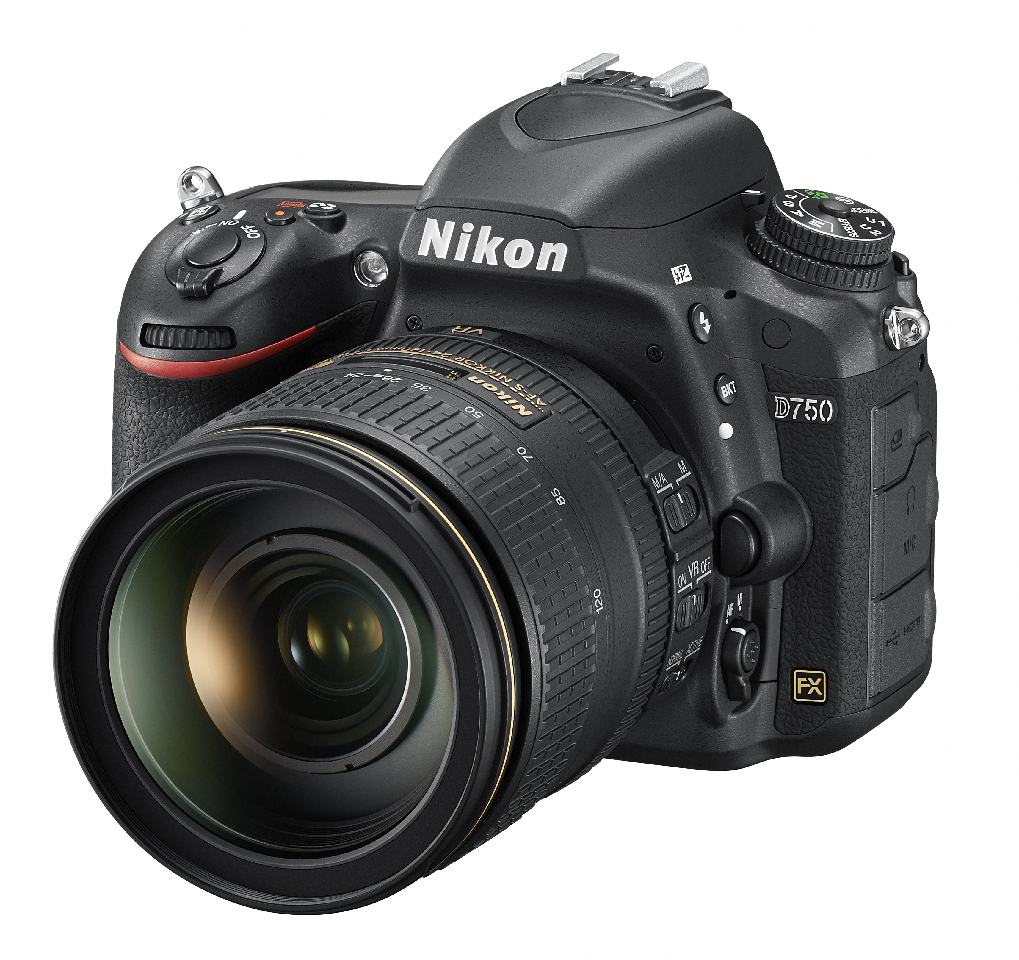 Nikon D750 con obiettivo