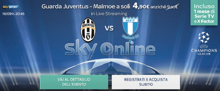 Sky Online partite streaming
