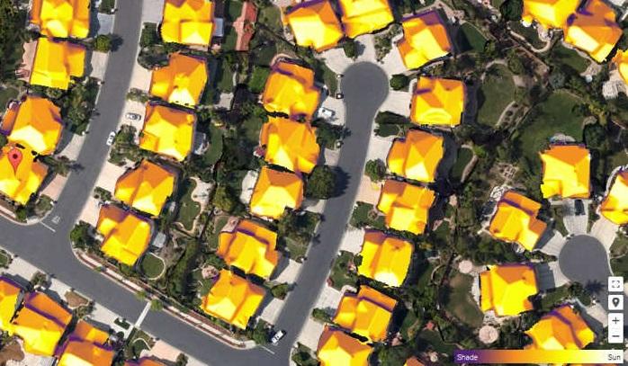 Google Maps tetti