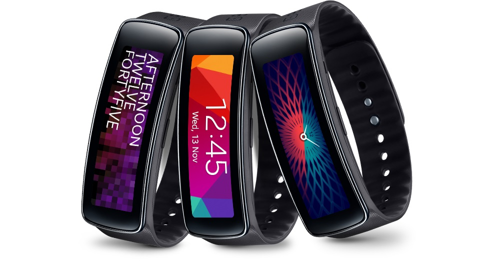 Samsung Gear Fit display