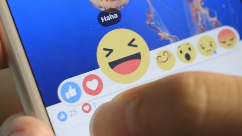 Facebook reactions emoticons