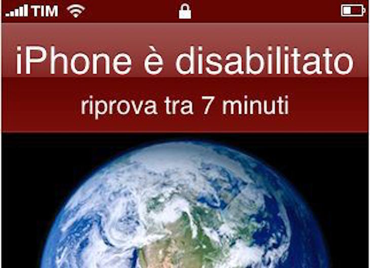 iPhone disabilitato