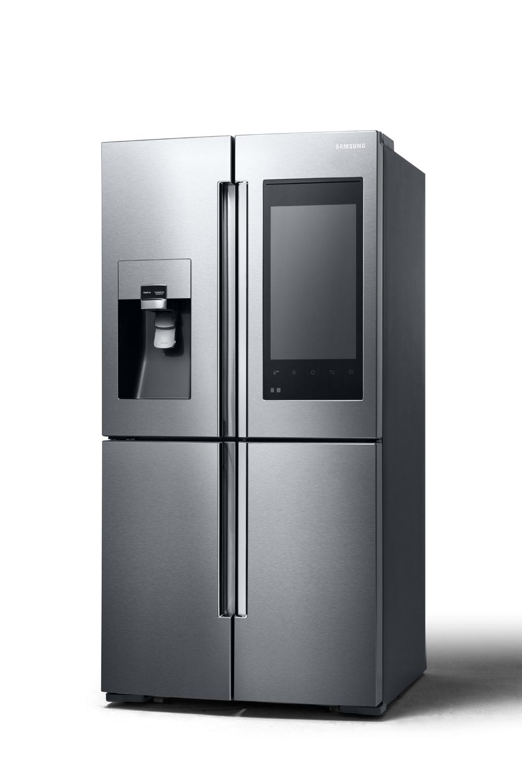 samsung ecco il frigorifero smart connesso alla tv. Black Bedroom Furniture Sets. Home Design Ideas