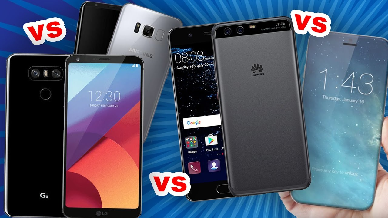 Huawei p10 vs samsung s8 vs iphone x