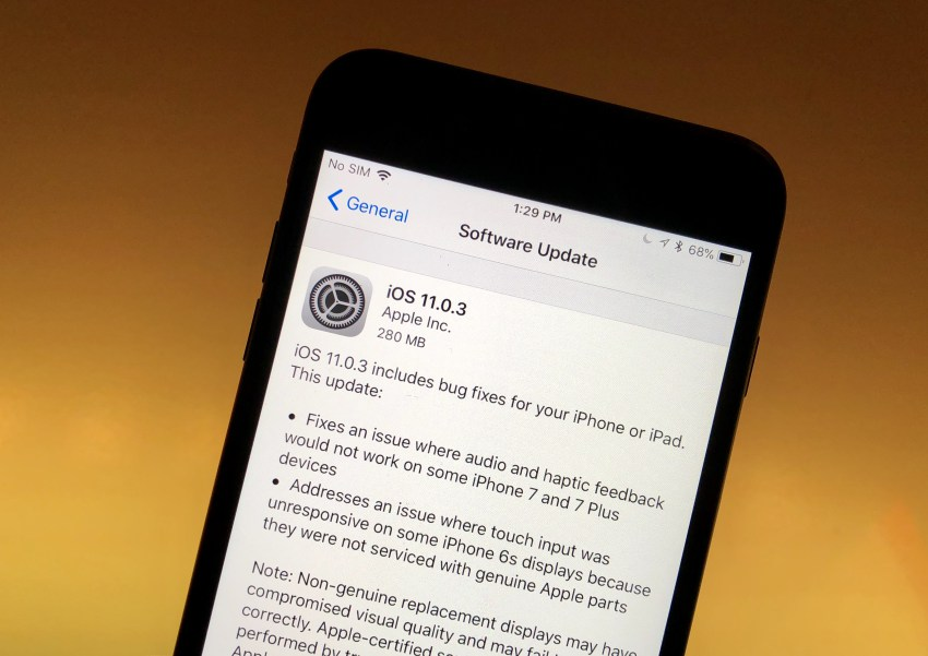Apple iOS 11.0.3 disponibile, le Novita'