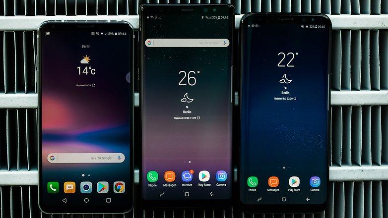 Migliori Smartphone Ottobre 2017: LG V30 Vs Samsung Galaxy