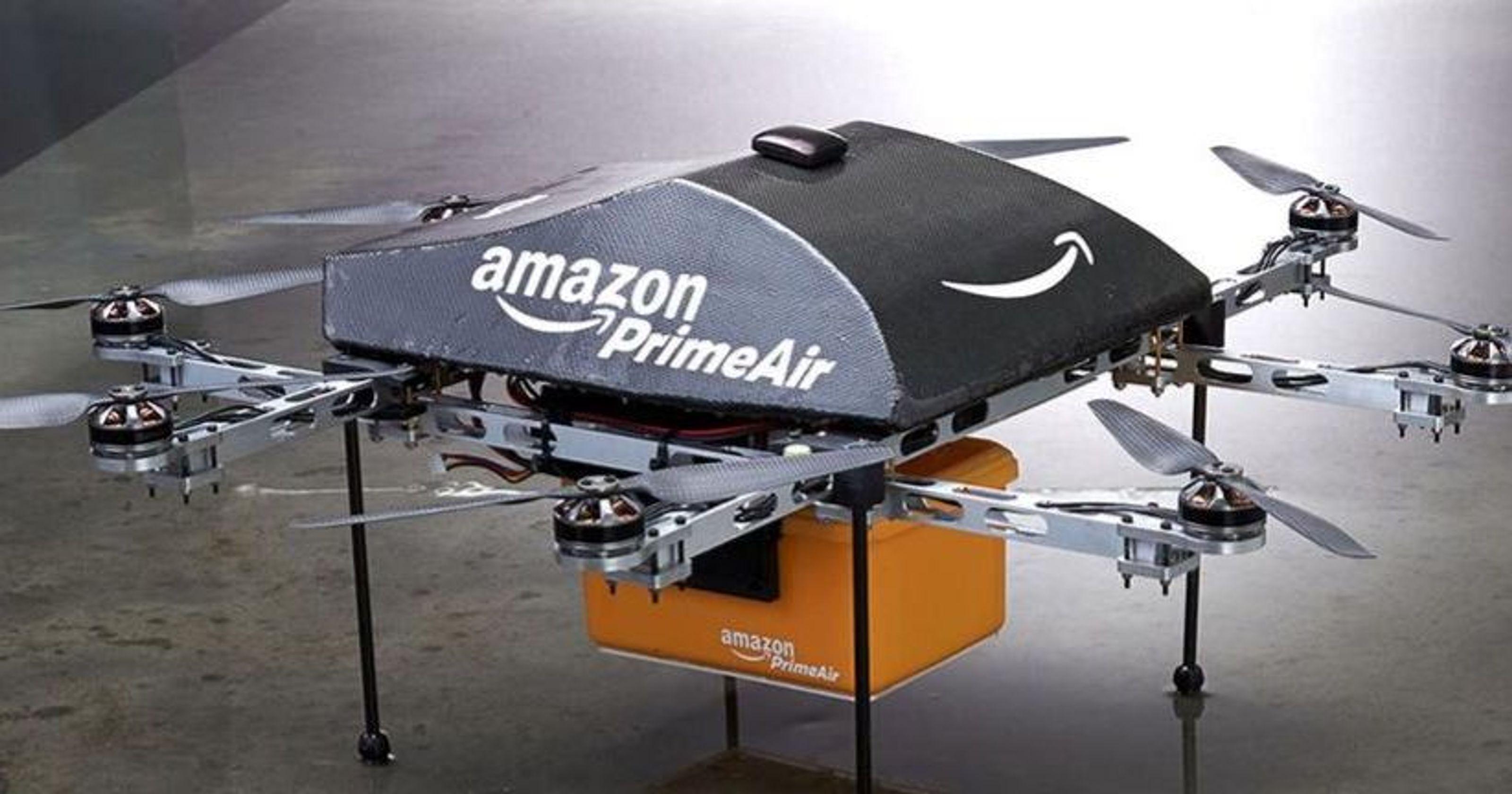 Droni di Amazon, pacchi recapitati a casa in meno di mezz'ora
